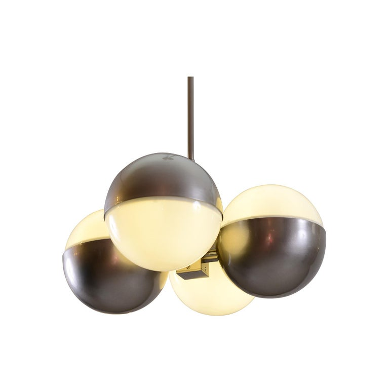 Austrian Machine Age - Art Deco style Ceiling Lamp, Re-Edition For Sale