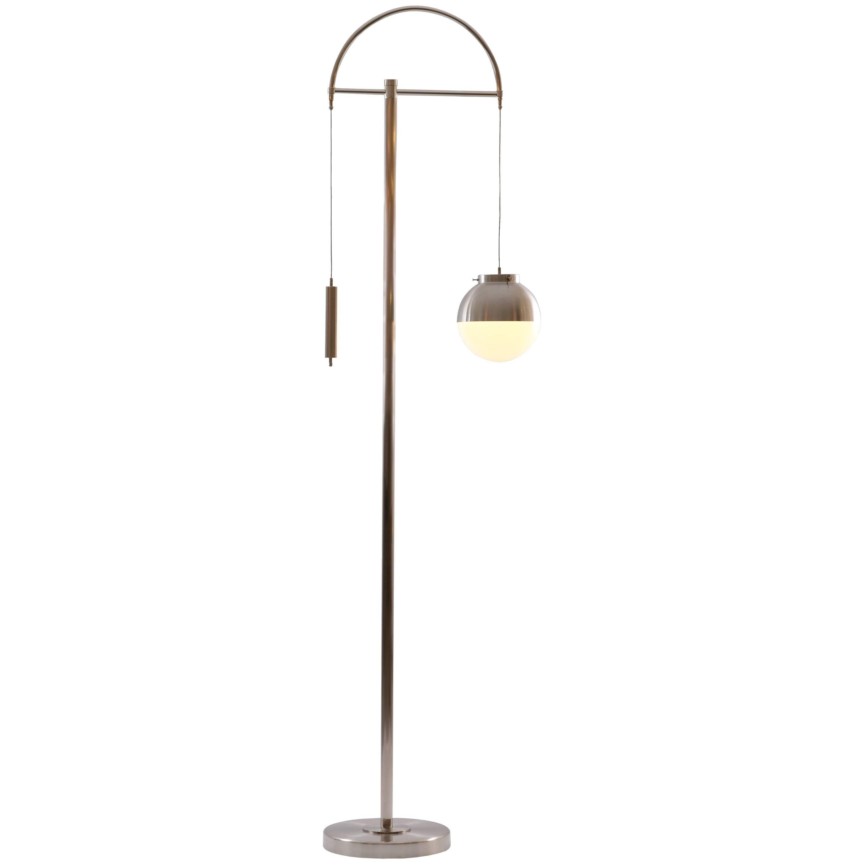 Art Deco, Art Nouveau  Lift Floor Lamp Adjustable in height, Re Edition
