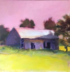 """Brattleboro Barn, Vermont,"" Wolf Kahn, Color Field, Abstract Expressionist"