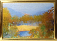 """Harvey's View"", Modernist Landscape Painting by Wolf Kahn"