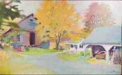 """""""Vacation House in Guilford,"""" oil painting on canvas by Wolf Kahn"""