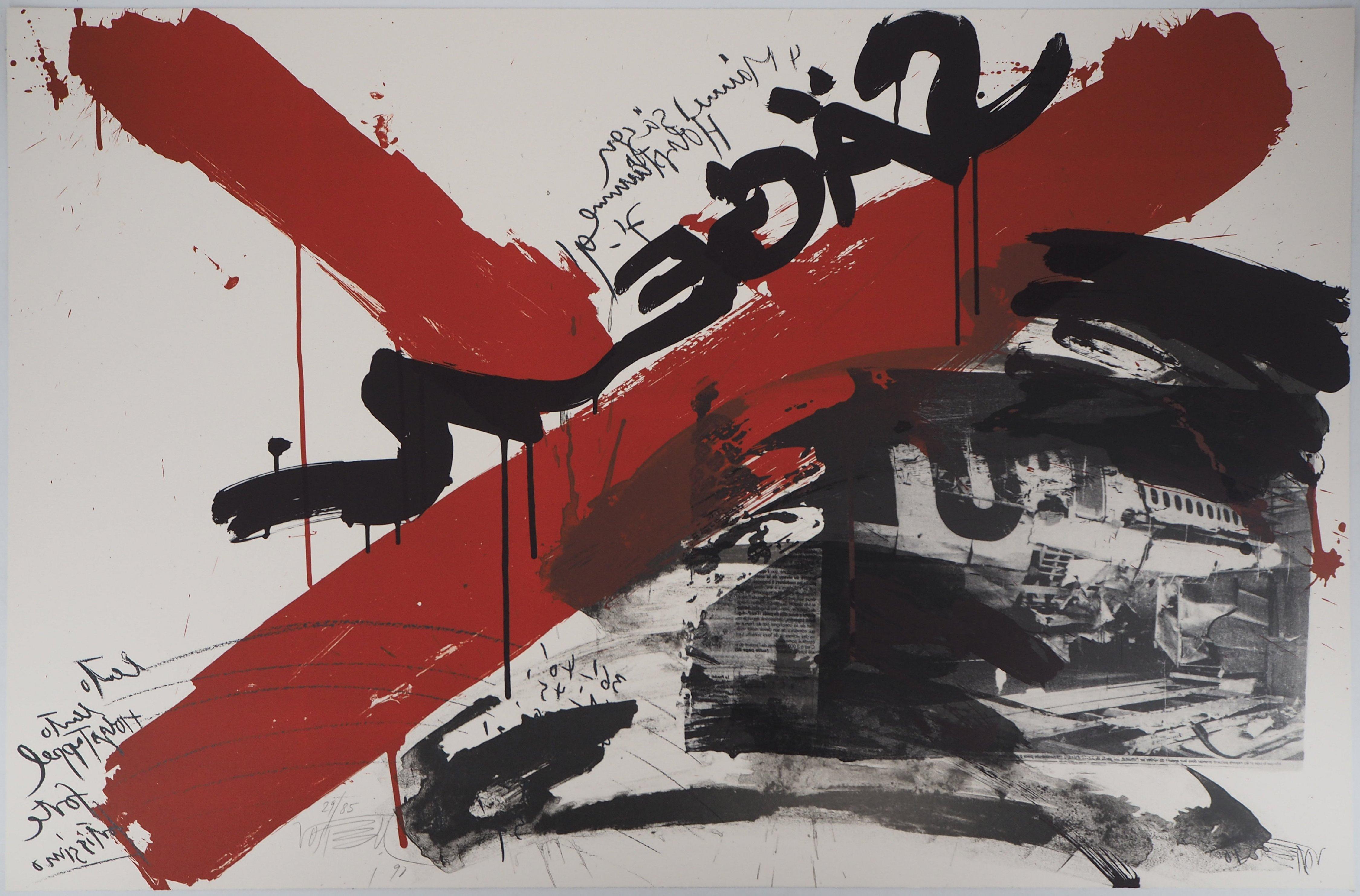 The Scream,  The Accident - Original handsigned lithograph - Ltd 85 cop (Fluxus)