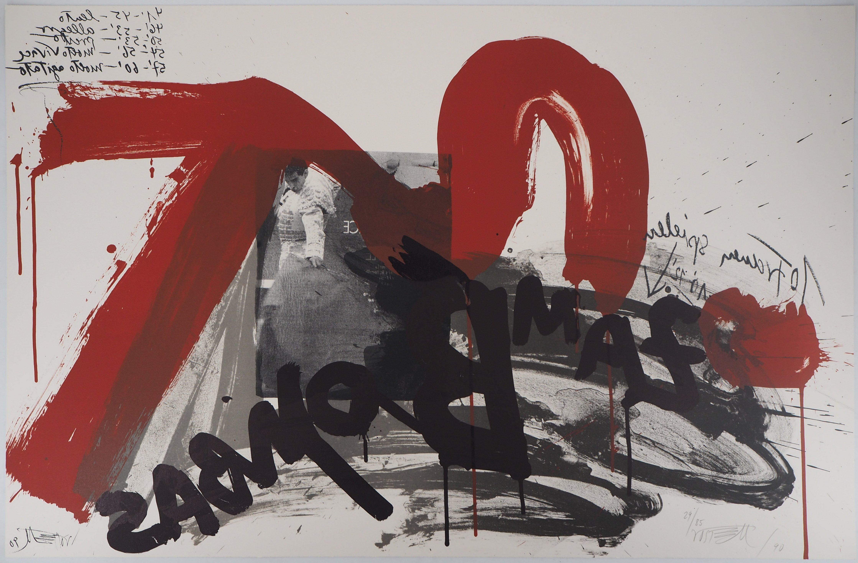 The Scream,  The Torero - Original handsigned lithograph - Ltd 85 cop (Fluxus)