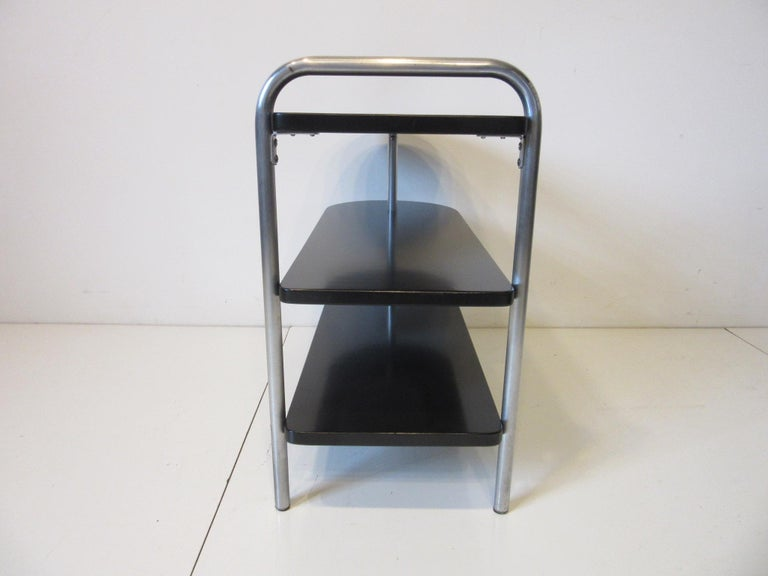 American Wolfgang Hoffman Deco Tri Tiered Side Table by Howell For Sale