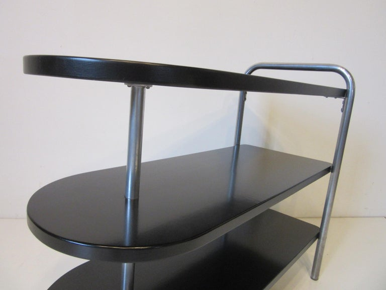 Wolfgang Hoffman Deco Tri Tiered Side Table by Howell For Sale 2