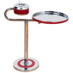 Wolfgang Hoffman for Howell Art Deco Chrome and Enamel Smoking / Cocktail Table