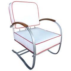Wolfgang Hoffmann Chrome Springer Lounge Chair for Howell