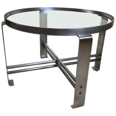 Wolfgang Hoffmann for Howell Round Chrome Coffee Table