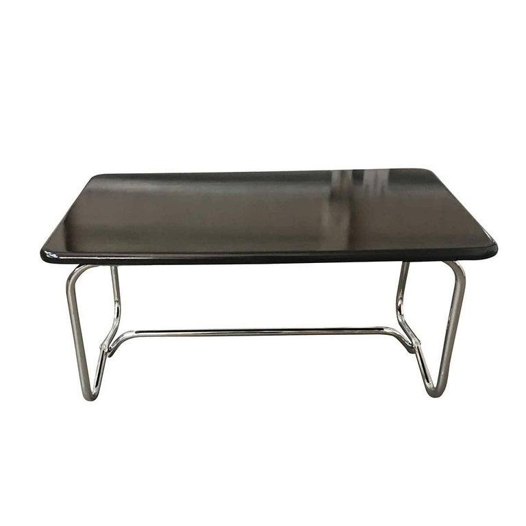 Deco Chrome Coffee Table: Wolfgang Hoffmann Style Art Deco Chrome And Micarta Coffee