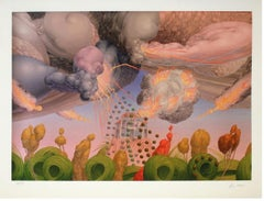"""Wolfgang Hutter - """"The garden and the burning house"""" - giclée print - labelled"""