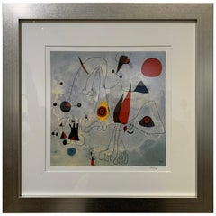 Woman and Birds at Sunrise Print 25/750 by Joan Miró
