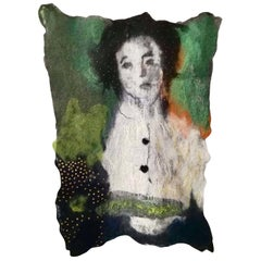 Woman and Buttons Tapestry