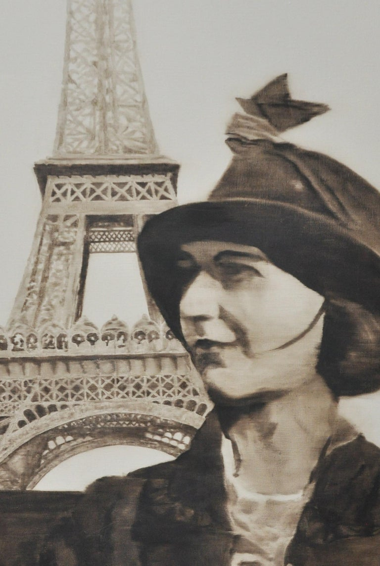 Woman at the Eiffel Tower In Good Condition For Sale In Geneva, IL
