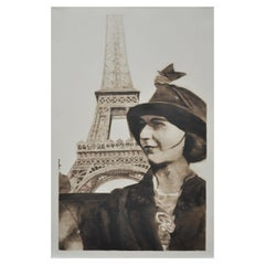 Woman at the Eiffel Tower