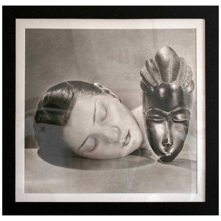 "Nantawang ""African Mask"", 2010 Hyperrealist Drawing For Sale"