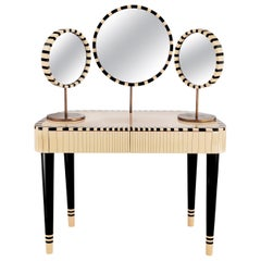 Woman in Paris Black and White Vanity Table by Matteo Cibic