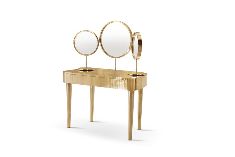 Modern Woman in Paris Dressing Table Oro by Matteo Cibic For Sale