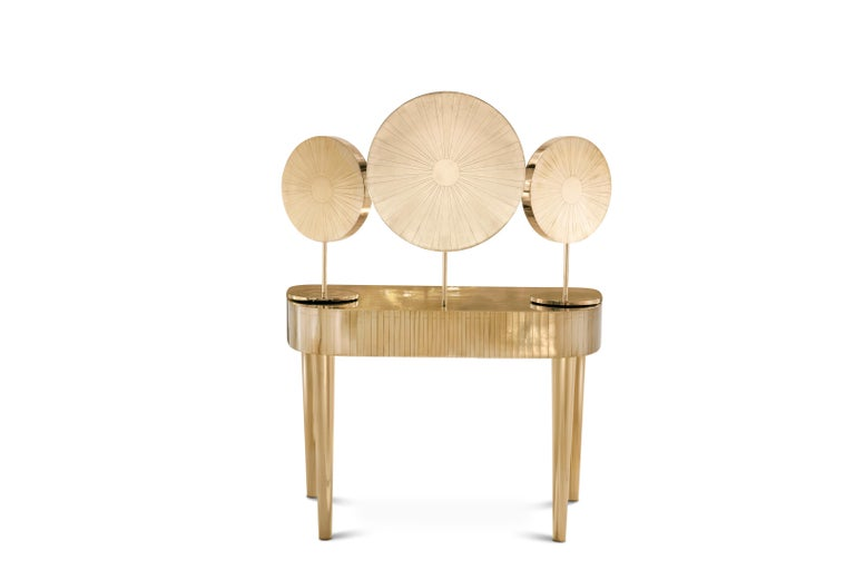 Indian Woman in Paris Dressing Table Oro by Matteo Cibic For Sale