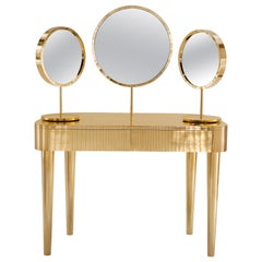 Woman in Paris Vanity Table in Brass by Matteo Cibic