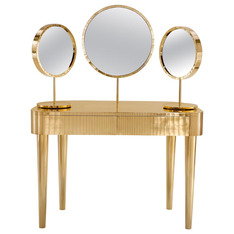 Woman in Paris Dressing Table Oro by Matteo Cibic For Sale