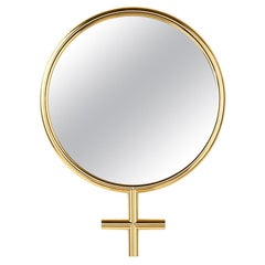 Woman Mirror in Gold Finish or Chrome Finish