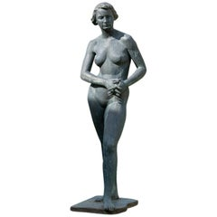 Woman Sculpture in Bronze, 1952 from Hanns Jörin, Switzerland
