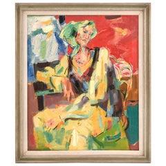 """""""Woman With Kerchief"""" Oil Painting by Alex Minewski"""