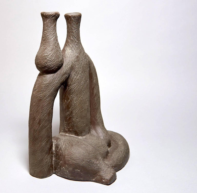 """Woman with Vase"" Ceramic Sculpture by Salvatore Fiume In Excellent Condition For Sale In Los Angeles, CA"