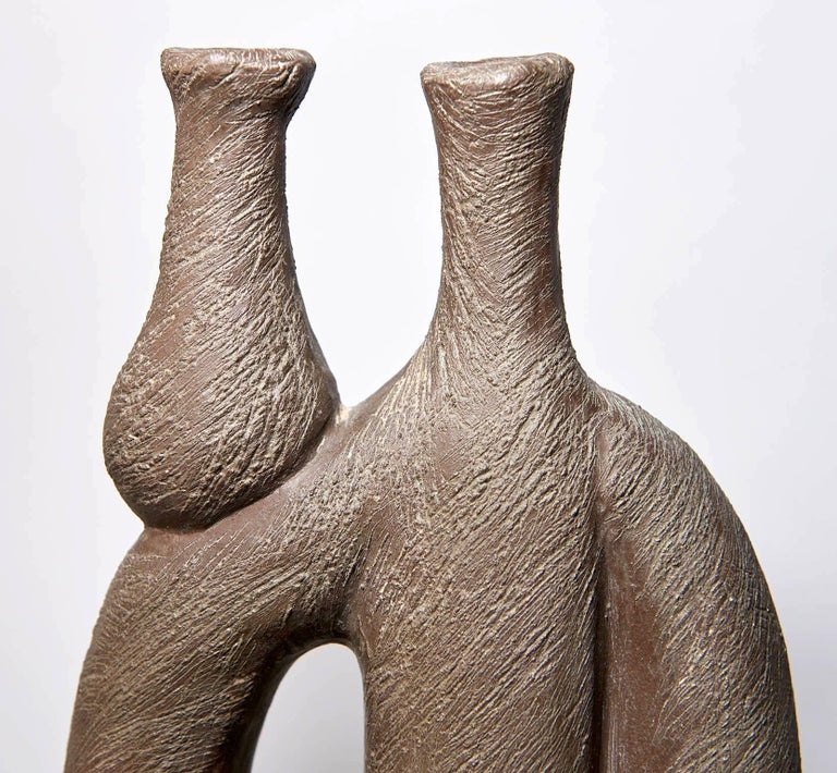 "Mid-20th Century ""Woman with Vase"" Ceramic Sculpture by Salvatore Fiume For Sale"