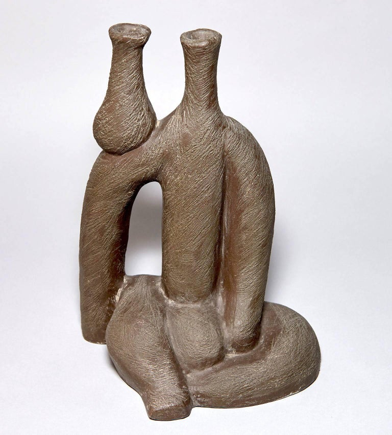 """Woman with Vase"" Ceramic Sculpture by Salvatore Fiume For Sale 2"