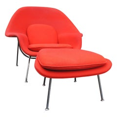 Womb Chair and Ottoman by Eero Saarinen for Knoll