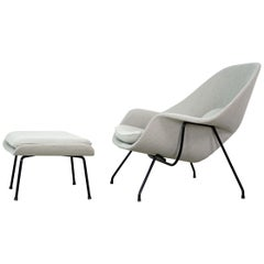 Womb Chair and Ottoman by Eero Saarinen for Knoll International, 1960s