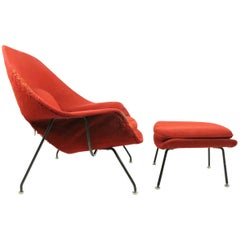 Womb Chair and Ottoman by Saarinen for Knoll