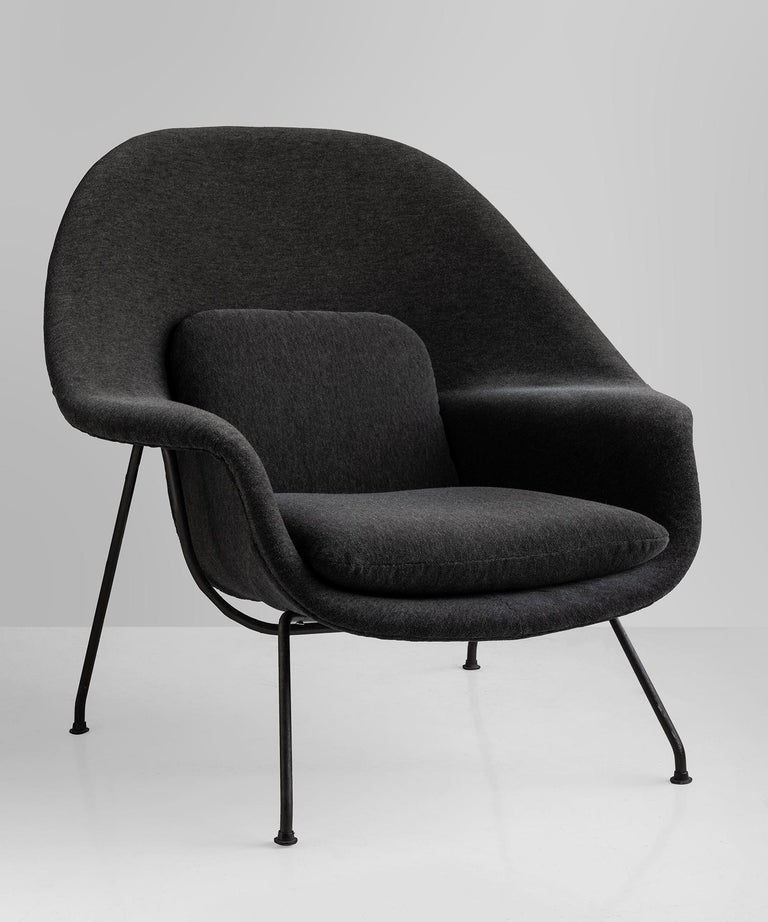 Womb chair by Eero Saarinen, America designed 1948.  Newly reupholstered in Maharam Mohair Supreme.