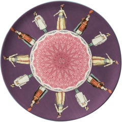 Women Porcelain Dinner Plate by Vito Nesta for Les-Ottomans