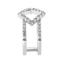 Women's 18 Karat White Gold Openwork Diamond Band Ring ALR-11172W