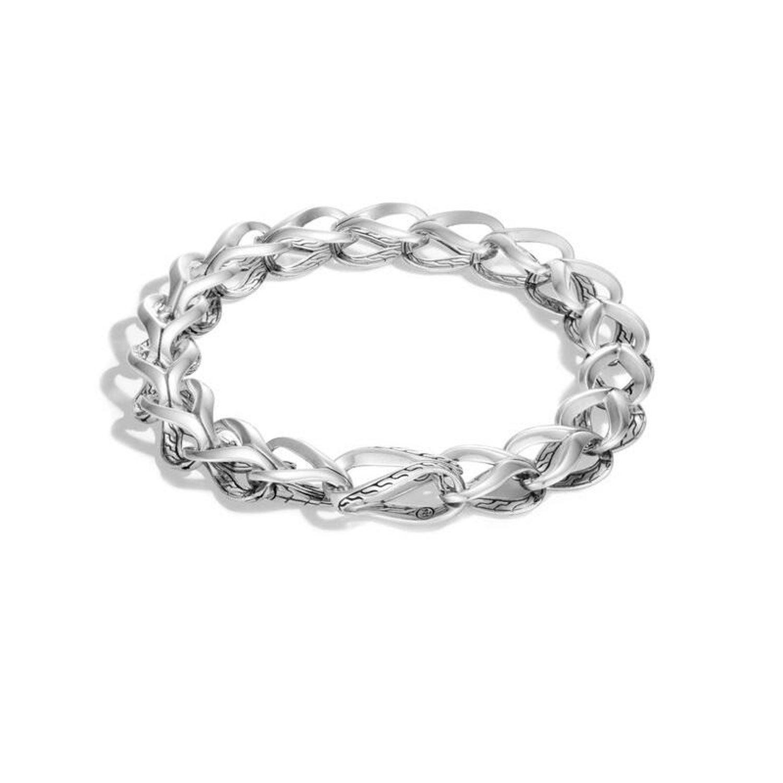 4f57609d68fc9 Women's Asli Classic Chain Link Silver Link Bracelet BB90010XM