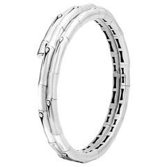 John Hardy Women's Bamboo Silver Small Double Coil Bracelet BB5900XS-M