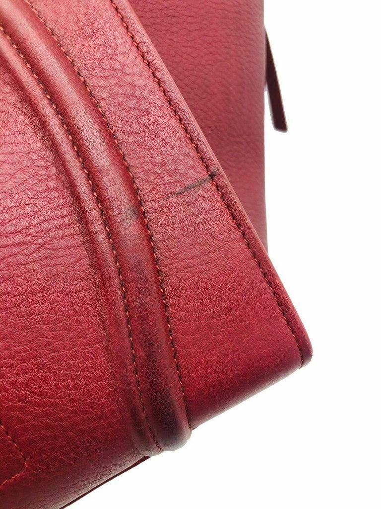 Womens Designer Celine Medium Phantom Luggage Tote - Burgundy For Sale 3