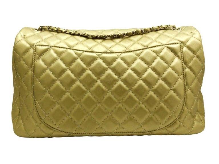 Brown Women's Designer Chanel Classic XXL Travel Flap Bag For Sale