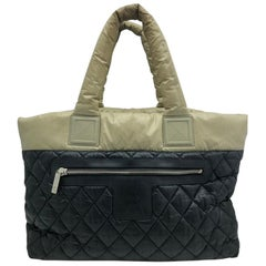 WOMENS DESIGNER Chanel Coco Cocoon Shopper Beige Black