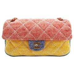 WOMENS DESIGNER Chanel Jersey Multicolour Medium Flap