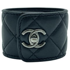 WOMENS DESIGNER Chanel Quilted Leather Cuff