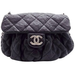 WOMENS DESIGNER Chanel Rouched Chain Edged Messenger