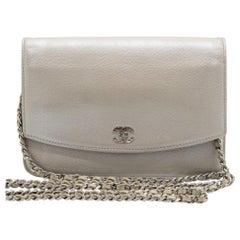 WOMENS DESIGNER Chanel Sevruga Wallet on Chain