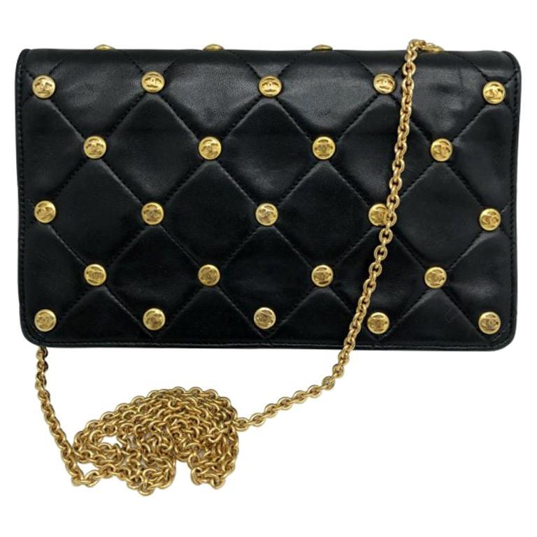 WOMENS DESIGNER Chanel Vintage CC Studs Shoulder Bag