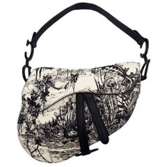 WOMENS DESIGNER Dior Embroidered Medium Saddle Bag