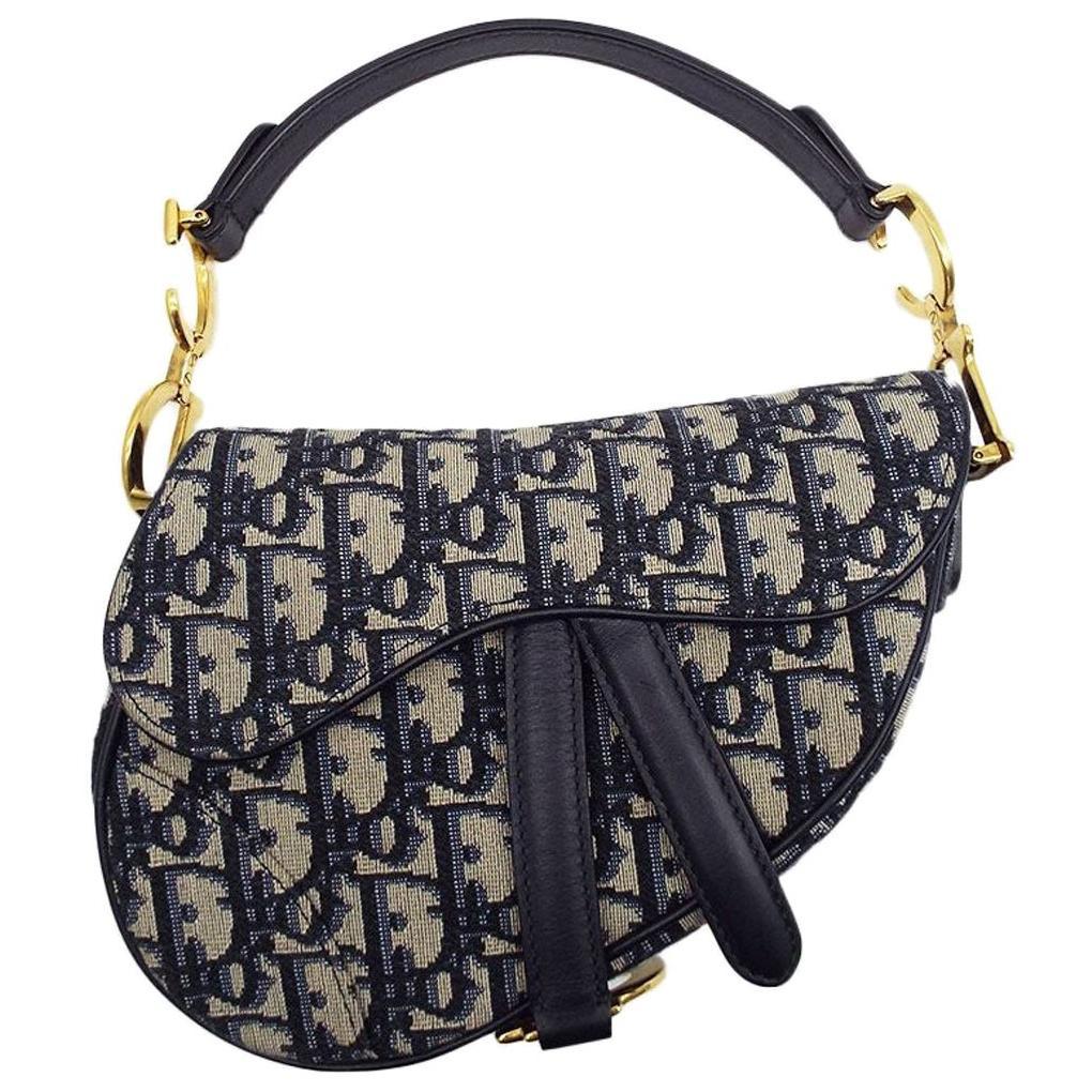 WOMENS DESIGNER Dior Mini Saddle Bag Oblique