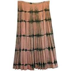Womens Designer Dior Pleated Tie and Dye Skirt UK SIZE 18 (46) - PINK