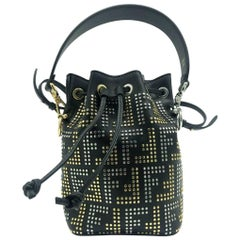Womens Designer FENDI Mini Mon Tresor Bucket Bag
